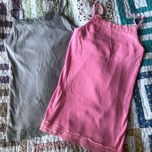 2 Spaghetti Strap Tank Tops (For Girls)